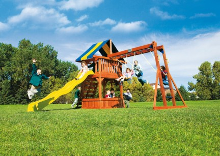 Parco giochi giardino