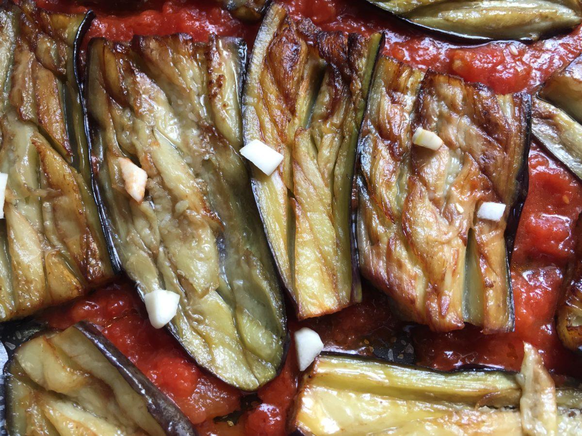 melanzane spaccate-aglio