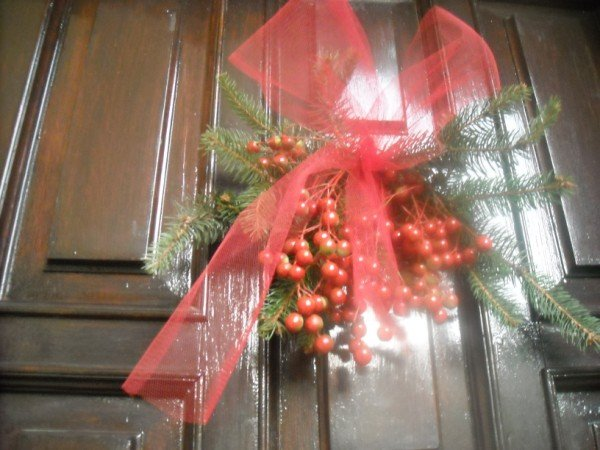 Ghirlanda natalizia per porta - Ghirlanda natalizia per porta fai da te ...