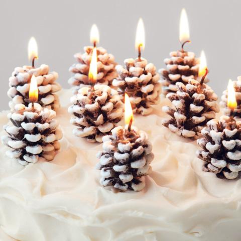 centrotavola candela pigna natale 6