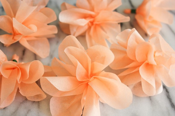 fiori di carta ghirlanda