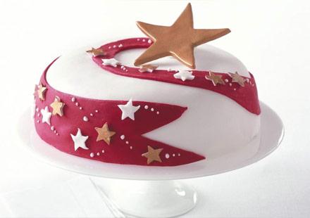Torta A Forma Di Stella Di Natale.Dolci Decorati Per Natale