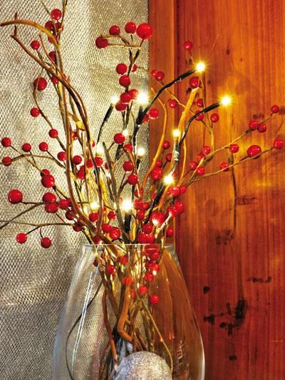 Ramo luminoso natalizio a luci led