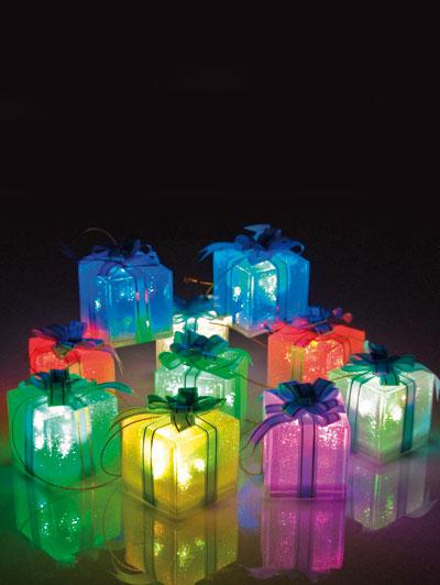 pacchetti luminosi per albero di natale