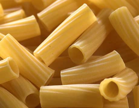 Rigatoni con zucchine e prosciutto