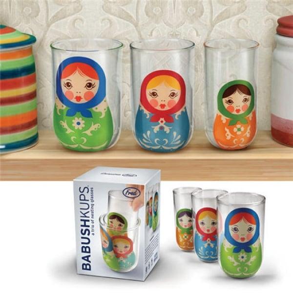 Bicchieri Matrioska per bibite - Babushkups