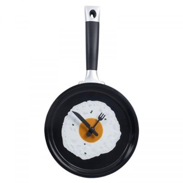 Orologio da cucina a forma di padella con uovo - Orologio da cucina design ...