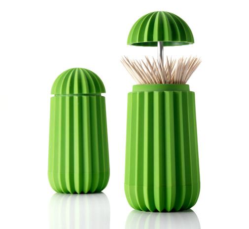 Portastuzzicadenti a forma di cactus
