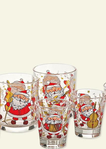 Set bicchieri natalizi