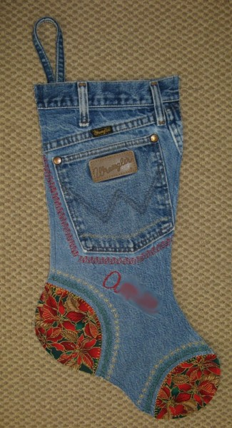 calza jeans befana