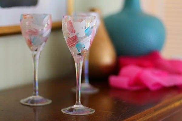 Dipingere bicchieri come portacandele
