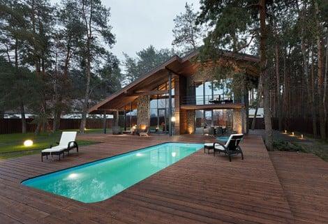 piscina chalet