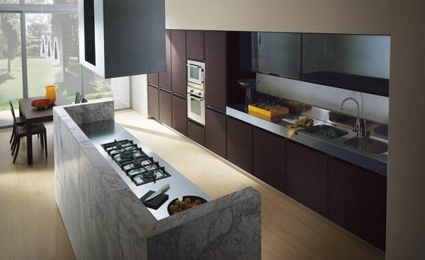 Dividere cucina e soggiorno idee for Cocinas con marmol y granito