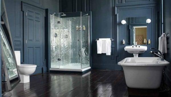 bagno lussuoso vasca doccia
