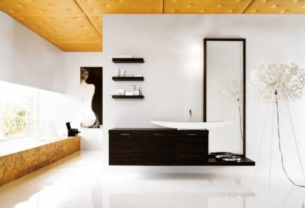 Come decorare il soffitto del bagno