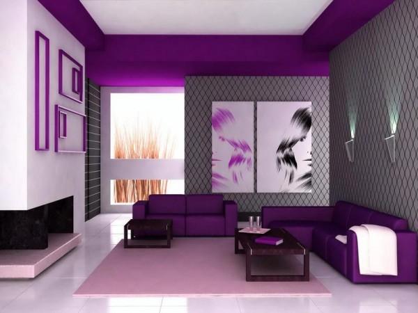 colore viola pareti