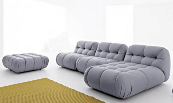 divano grigio stoffa tessutp