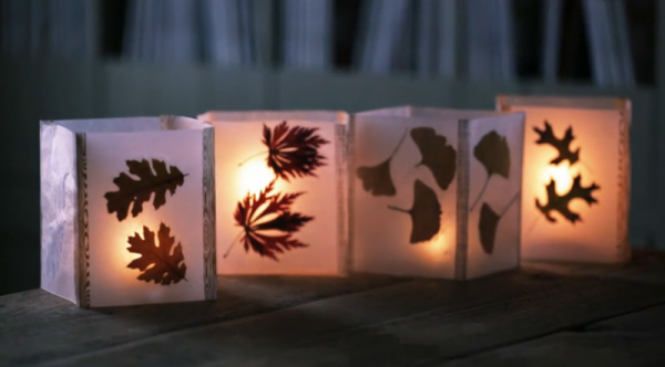 Lanterne Da Giardino Fai Da Te : Lanterne con foglie fai da te