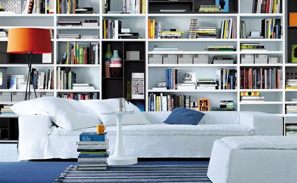libreria parete salotto