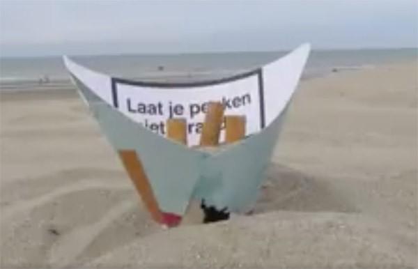 Posacenere da spiaggia fai da te