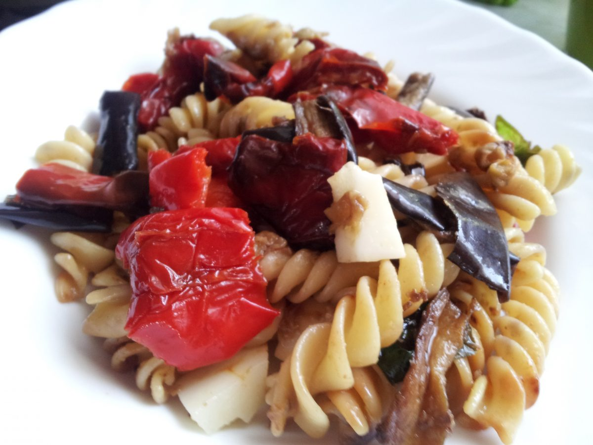 pasta-peperoni-melanzane