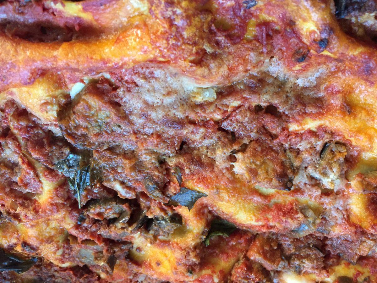 Lasagne-melanzane-cottura