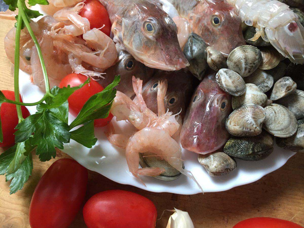 zuppa di pesce-ingredienti