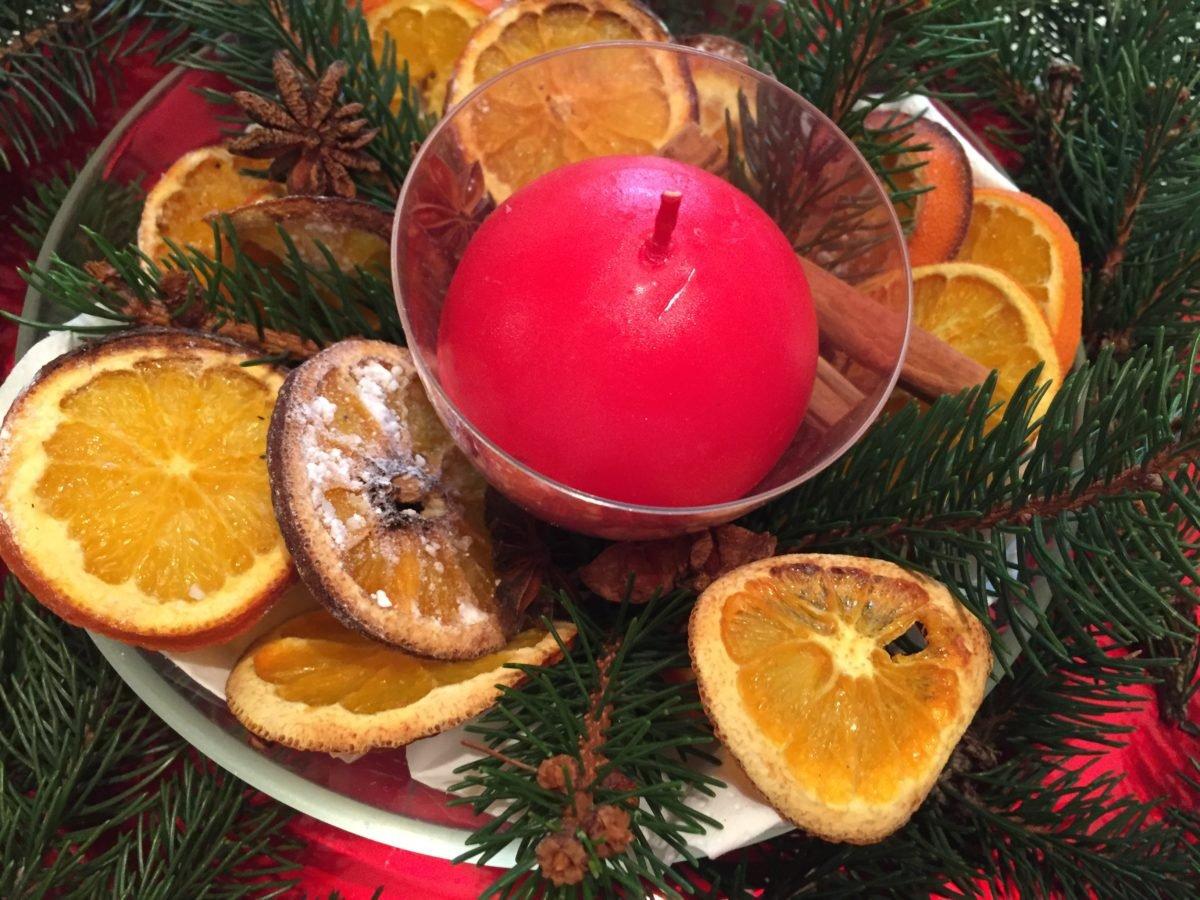 centrotavola-arance essiccate