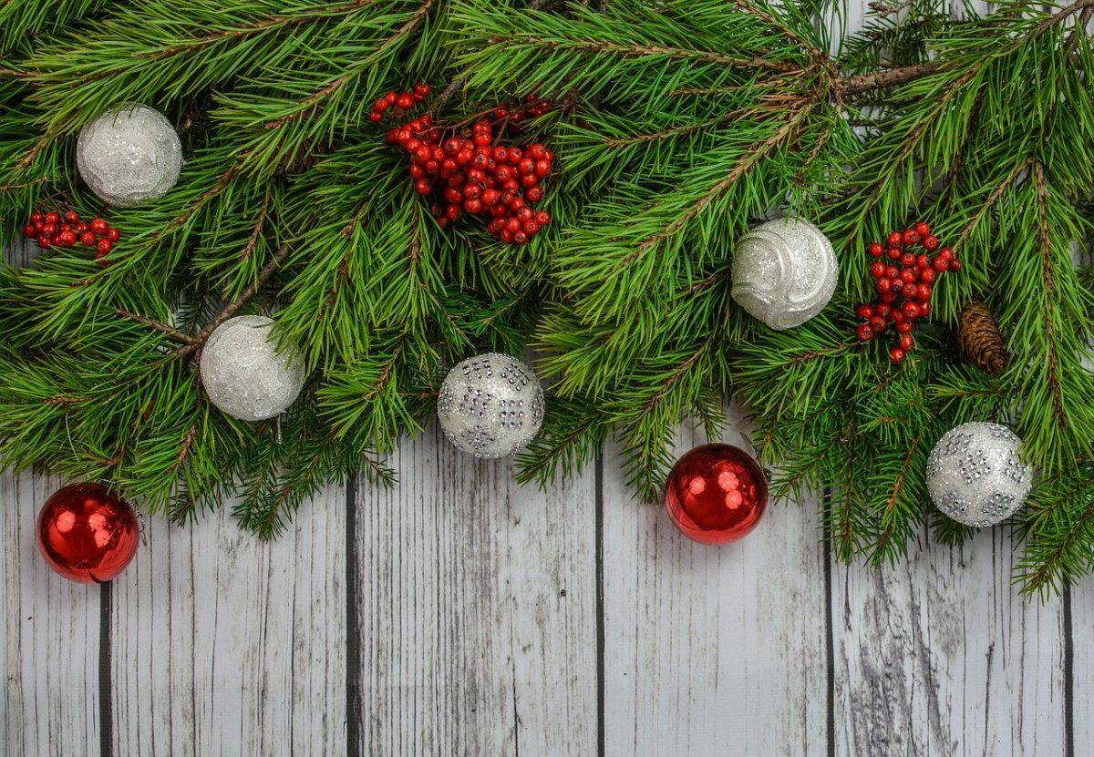 Palline Di Natale Con Rametti festone natalizio fai da te
