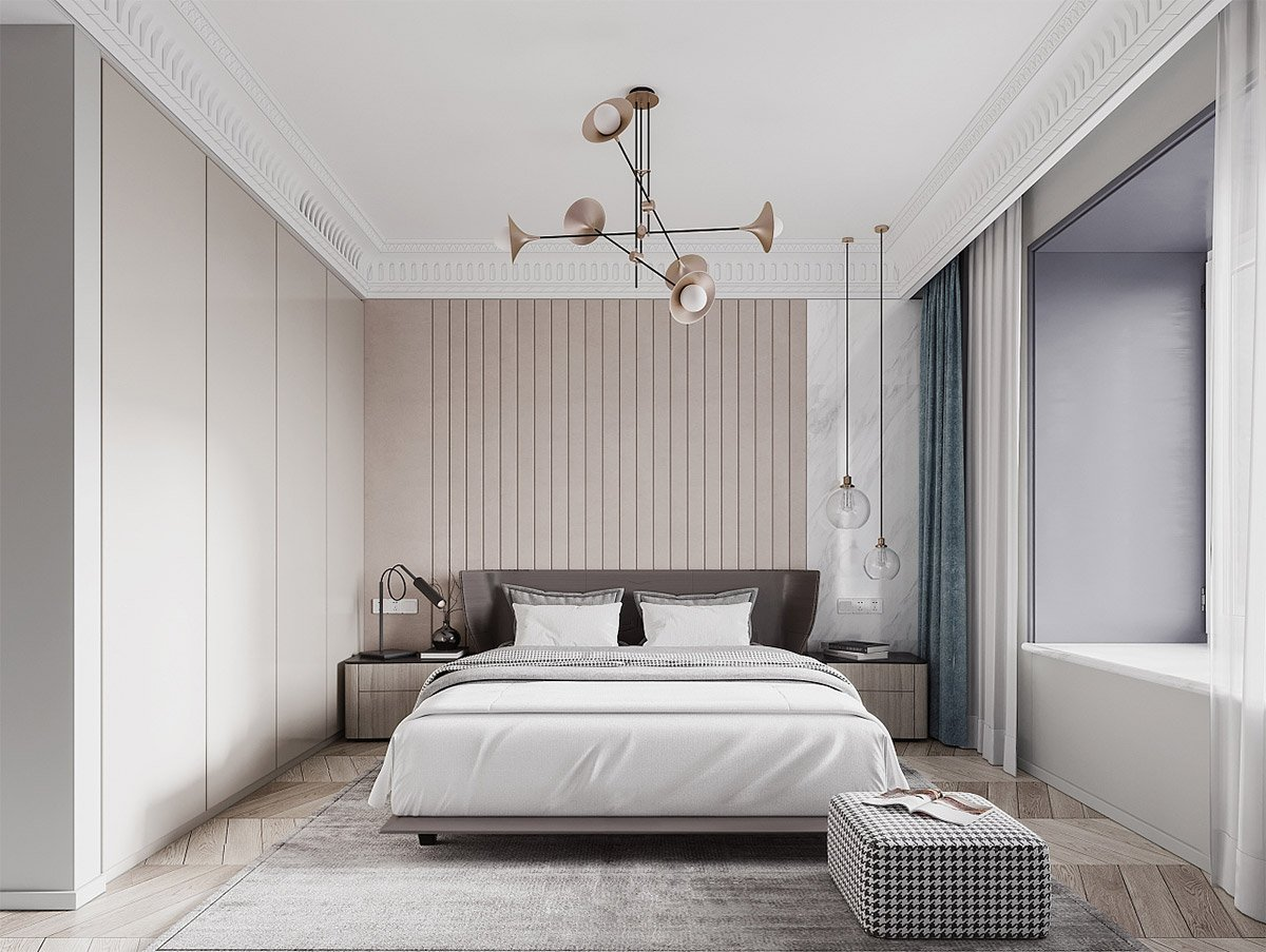 camera-da-letto-moderna-rosa-antico-e-grigio